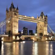 Night view of Tower Bridge, london